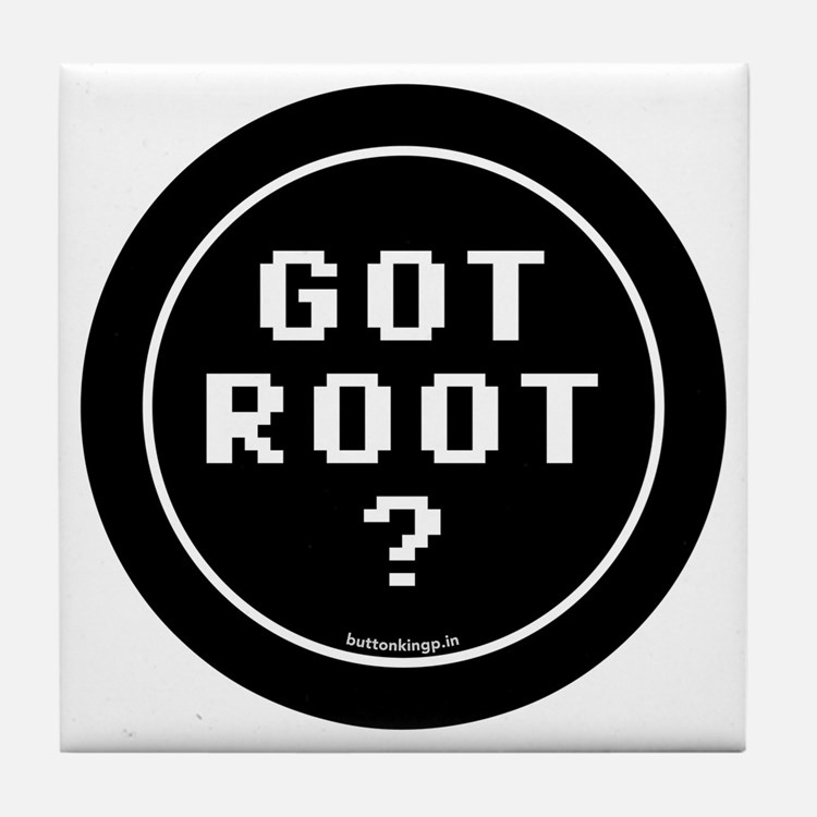 btn-geek-got-root Tile Coaster