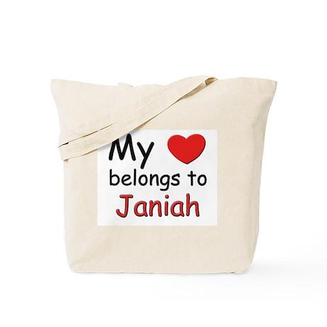 My heart belongs to janiah Tote Bag