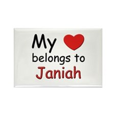 My heart belongs to janiah Rectangle Magnet