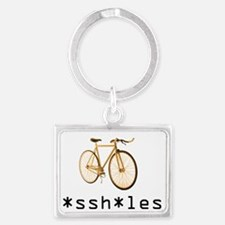 *ssh*les Fixie Orange Landscape Keychain