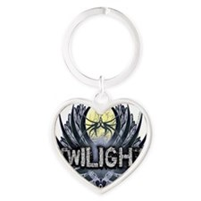 Twilight Blue Wings Heart Keychain