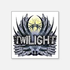 "Twilight Blue Wings Square Sticker 3"" x 3"""