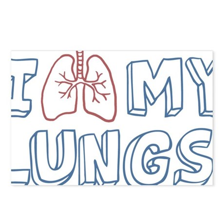 organ-i-love-my-lungs_tr Postcards (Package of 8)
