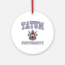 TATUM University Ornament (Round)