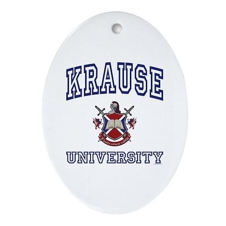 KRAUSE University Oval Ornament