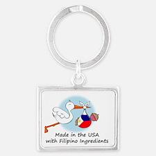 stork baby filip 2 Landscape Keychain