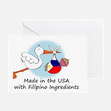 stork baby filip 2 Greeting Card