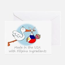 stork baby filip white 2 Greeting Card