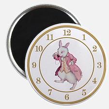 ALICE_WHITE RABBIT 8 CLOCK Magnet
