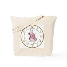 ALICE_WHITE RABBIT 8 CLOCK Tote Bag