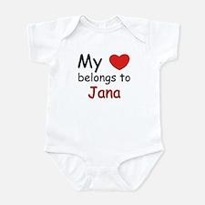 My heart belongs to jana Infant Bodysuit