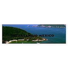 Zihuatanejo harbor42x28 Bumper Sticker