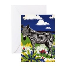 FIN-zebra-watercolor Greeting Card