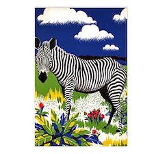 FIN-zebra-watercolor Postcards (Package of 8)