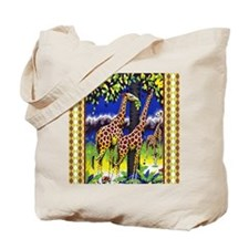 FIN-giraffe-watercolor-PILLOW Tote Bag