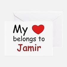 My heart belongs to jamir Greeting Cards (Package