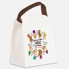 give our kids button Canvas Lunch Bag