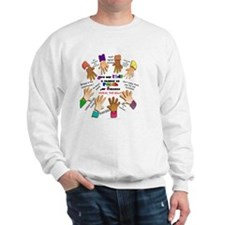 give our kids button Sweatshirt