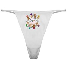give our kids button Classic Thong