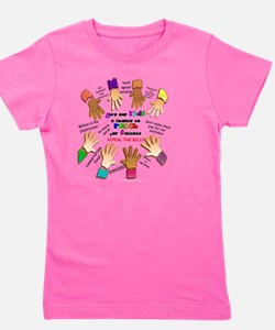 give our kids button Girl's Tee
