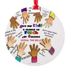 give our kids button Ornament