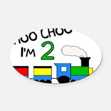 train_choochooim2 Oval Car Magnet