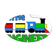 train_littleengineer Oval Car Magnet