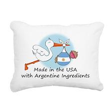 stork baby argent 2 Rectangular Canvas Pillow