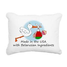 stork baby belarus 2 Rectangular Canvas Pillow