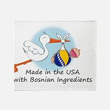 stork baby bosnia 2 Throw Blanket