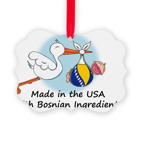 stork baby bosnia 2 Picture Ornament
