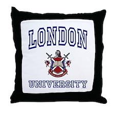 LONDON University Throw Pillow