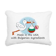 stork baby bulg 2 Rectangular Canvas Pillow