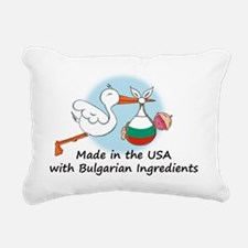 stork baby bulg 2 Rectangular Canvas Pillow