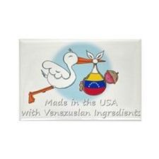 stork baby venez white 2 Rectangle Magnet