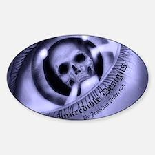 inkredible designs logo shirt back Sticker (Oval)