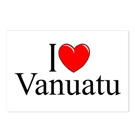 """I Love Vanuatu"" Postcards (Package of 8)"