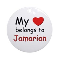 My heart belongs to jamarion Ornament (Round)