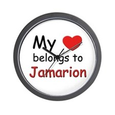 My heart belongs to jamarion Wall Clock