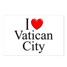 """I Love Vatican City"" Postcards (Package of 8)"