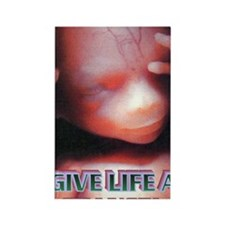 GIVE LIFE A CHANCE(mini poster) Rectangle Magnet