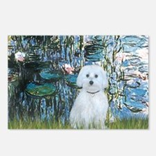 MP-Lilies 1 - Maltese (B) Postcards (Package of 8)