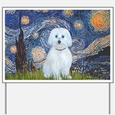 SFP-Starry Night - Maltese (B) Yard Sign