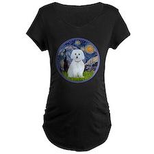 Starry Night - Maltese (B)  T-Shirt