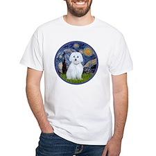 Starry Night - Maltese (B) - roun Shirt