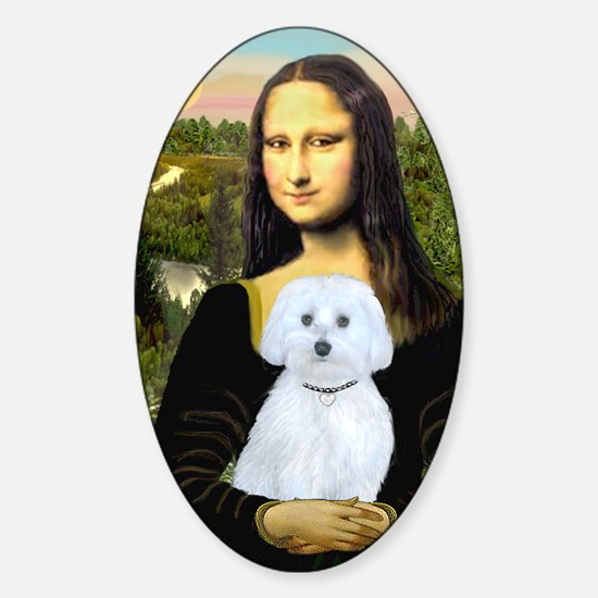 MP-Mona Lisa - Maltese (B) Sticker (Oval)