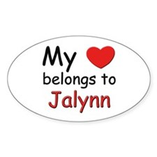 My heart belongs to jalynn Oval Decal