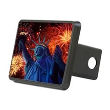 Lady_Liberty_Oval_Sticker Hitch Cover