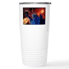Lady_Liberty_Oval_Sticker Travel Mug