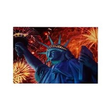 Lady_Liberty_Oval_Sticker Rectangle Magnet